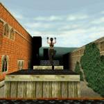 Lara Croft s'entrainant dans son jardin