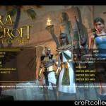 Le menu  du jeu avec les personnages animés.