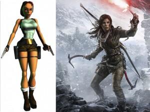 différence entre la Lara Crft de 1996 par Core Design et la Lara Croft 2015 par Crystal Dynamics